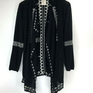 New Haute Project Black Open Front Sweater